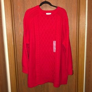 NWT Old Navy sz 4x Candy Apple Cable Knit Sweater!